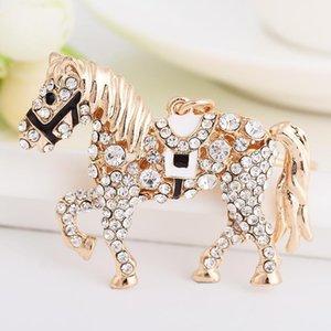 Горный хрусталь-кристалл металлический конный ключ цепи держатель сумки подвеска подвеска брелок Best-tenamell-animal-zodiac-gift1