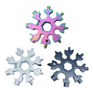 18-in-1 눈송이 다중 공구 스테인레스 스틸 멀티 톨 카드 조합 컴팩트 휴대용 옥외 제품 18 in 1 Snowflake Tool Card