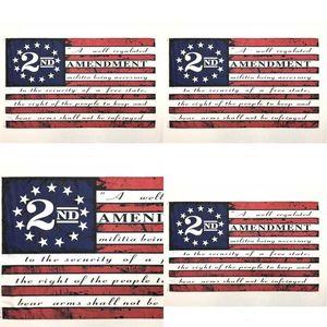 2nd Amendment Vintage American Flag Outdoor Banner Flag 90cm*150cm Polyester Custom USA College Basketball Flags HWD4419