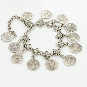Coin Ankle Bracelet Summer Fashion Tassel Tornozeleira Charme Coin Anklet presente Praia tornozeleira.