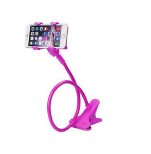Newly Car Phone holder Universal Long Arm Lazy Mobile Phone Gooseneck Stand Holder Flexible Bed Desk Table Clip Bracket For iphone samsung