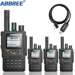 4pcs ABBREE AR-F8 GPS Walkie Talkie high power 136-520MHz Frequency CTCSS DNS Detection huge led display 10km long range