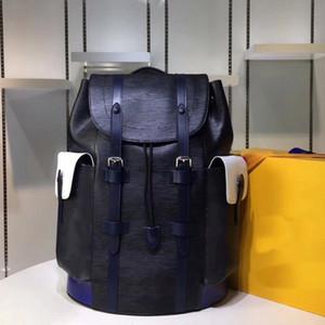 Bolsa de luxo mochila designer de couro de couro senhoras senhoras grandes capacidade homens mochila bolsa casual mochila portátil 413 79