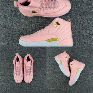 Basquete Novas Mulheres Sapatos 12 Gs Lobo Cinza Vívido Rosa XII 12S Running Womens Shop Shoe Woman Sneaker Casual