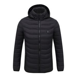 Men's Fleece Jackets Waterproof Winter Heated Jackets Thermal Heating Clothing Skiing Coat Men Hiking Jacket S-4XL 2Colors 201114