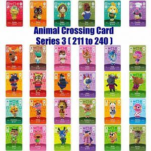 Серия 3 211 К 240 Amiibo Animal Crossing Card Работа для NS Игры Amibo Переключатель Рози Добро пожаловать наклейки New Horizons NFC 4o7M #