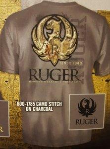 المصممين هوديي روجر كامو غرزة رجل الفحم L XL تي شيرت قميص من النوع الثقيل