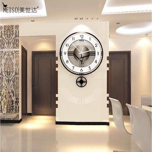 MEISD calidad de acrílico del reloj de péndulo moderno diseño creativo del reloj de cuarzo reloj silencioso Decoración de habitaciones en vivo del Reloj de envío gratuito 1008