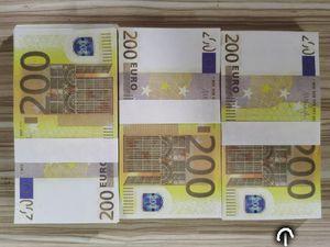 Transfrontalieri nuova pratica puntelli prodotto soldi 200 euro tagliandi di carta giocattoli falsi oggetti di scena di simulazione banconote di denaro per bambini