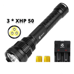 XHP50 Powerful LED Flashlight Waterproof LED Torch Explosion proof aluminum alloy For outdoor professional lighting