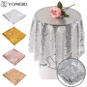 Gül Altın Pullu Tablecloth Glitter Yuvarlak Dikdörtgen İşlemeli Pullu Masa Örtüsü için Düğün Masa Örtüsü Pullu Dekor yxlTjn
