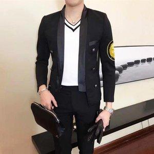 Мужские костюмы Blazers Suite 2021 Маленький Blazer Masculino Вышивка Значок Значок самосовершенствования Мужской Модель Мастер Мастер Одежда Hombre1