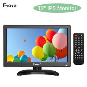 """EYOYO 11.6 """"EM12T PC MONITOR 1366X768 IPS écran LCD avec TV VGA AV USB Affichage USB pour caméra de sécurité informatique DVD CCTV"""