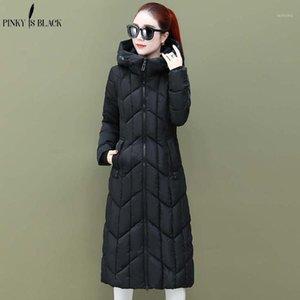 Pinkyisblack Chaquetas y abrigos de invierno 2019 con capucha con capucha Parkas largas para las mujeres chaqueta wadded chaqueta con capucha cálida quilting chaqueta de invierno mujeres1
