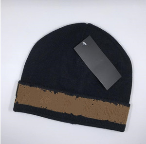 Moda otoño invierno unisex lana sombrero beanie buena calidad casual cálido letra sombreros para hombres y mujeres diseñador casquillo capull casquillo H557