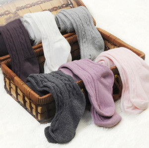 Baby Pantyhose Kids Cotton Dance Socks Pants Solid Baby Girl Pants Stretch Tights Infant Toddler Kid Clothes 8 Colors FWB2998