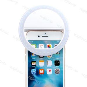 Novidade Iluminação Selfie Ring Lights Dimmable 3 Modo Móvel Lente de Telefone Móvel Flash Portátil Levado Luminoso Clipe Luz Beleza Live para iPhone Xiaomi DHL
