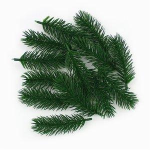 Pipifren 10 조각 인공 소나무 바늘 가짜 식물 분기 크리스마스 트리에 대 한 인공 잎 꽃 홈 장식 Y201020