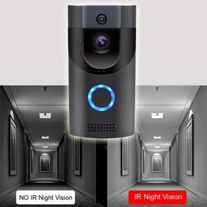FreeShipping WIFI Doorbell Photograph IP65 waterproof Smart video Door chime 720P wireless intercom FIR Alarm IR night vision IP camera