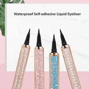 Newest Waterproof Self-adhesive Black Eyeliner For False Eyelashes Needn't Glue To Wear Lashes Strong Self Adhesive Liquid Eyeliners Makeup