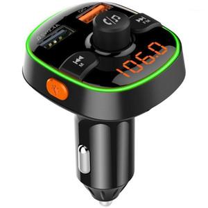 Car Fm Transmitter Wireless 5.0 Handsfree Car Mp3 Player Wireless Kit Fm Modulator Dual Usb Charger Rgb Light Player1