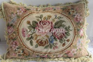 "Free Shipping 10K 14""x20"" Needlepoint woolen cushion handmade woolen pillow with 100% New Zealand Wool Cushion cover"