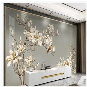 Современный минималистский цветок обои диван ТВ фон стены настенной 3d пейзаж обои