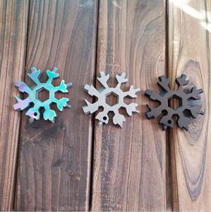 18 1 Snowflake Anahtar Anahtarlık Hex Fonksiyonlu Outdoor Yürüyüş Anahtarı Anahtarlık Cep Camp El Aletleri Deniz Shippping DDA676 Survive