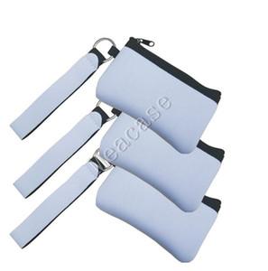 Sublimation DIY Imprimer Carte vierge ID Porte de transfert de chaleur d'impression en néoprène Mini Porte-Monnaie Portefeuilles Sacs à main MultiFunction Wristlet F102306