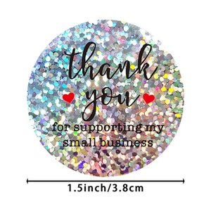 1.5inch 500pcs Round Thank You For Supporting My Small Business Stickers Label Baking Party Gift Bag Envelope Decor