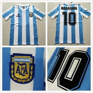 1988 World Cup Classic Vintage Argentina Soccer Jersey 10 MARADONA CANIGGIA BATISTA DIEGO Custom Home Camisa de futebol Football Shirt