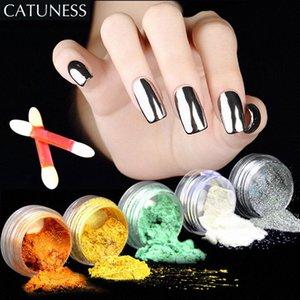 CATUNESS super manucure Brillante Nail Art Chrome Pigment poussière Glitter Ombre Maquillage poudre poussière manucure Chrome Pigment Glitters niNM #