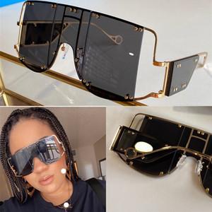 New Fashion Avant-Garde Sunglasses Speciale Design speciale GRANDE FRAME Protezione UV400 quadrato Goggle Quadrato Top Quality Light Color Eyewear decorativo
