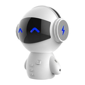 Lindo Robot inteligente Bluetooth Speaker M10 Mini Smart-Robot Súper Bass Bluetooth Altavoces Bluetooth para regalos de música de Power Bank