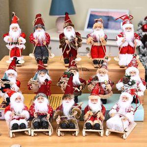 2021 New Year Latest Christmas Decorations Christmas Dolls Tree Decorations Innovative Elk Santa Snowman1