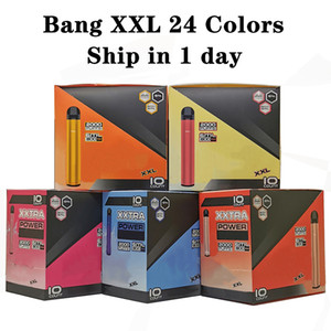 24 cores Bang XXL Novo pacote descartável Vape Kit mais XXL Fluxo 2000Puffs 6ml Capacidade Bateria Vaporizador E-Cigarettes Bang XL Rápido Navio