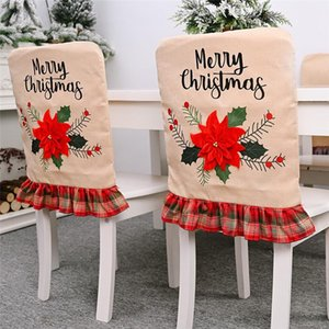 Merry Christmas Car Chair Cover Decor Nonwoven Santa Hat Chair Cover Xmas Dinner Table Decor Happy New Year HWC2778