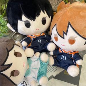 Animado Haikyuu !! Tobio Kageyama Shoyo Hinata Oikawa Tooru linda muñeca de la felpa rellenó el juguete Cambio Traje de Vestir ropa de la muñeca cosplay 20cm
