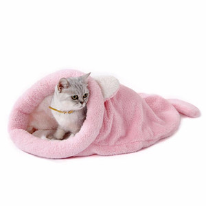 Cute Cat Sleeping Bag Warm Dog Cat Bed Pet Dog House Lovely Soft Pet Mat Cushion High Quality Products Lovely Design