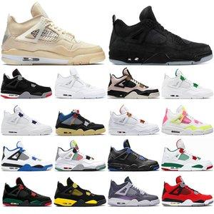 2020 top quality Sneakers Cream Sail Mushroom Monsoon Blue Men Women Jumpman 4 4s Basketball Shoes fashion Mens Trainers Sport Shoe 36-47
