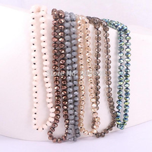 5 Strands Zyunz Mode Bohemian Bijoux Noué Long Crystal Verre Perle Collier Simple Bijoux pour Femmes1