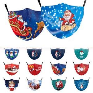Рождество дизайнер маски мода маска для лица ребенка взрослых защитная маска Рождество старый человек набивным рисунком оленей с фильтром маски