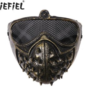 NewGothic Japanese Anime Masks Women Men Steampunk Rivet Half Face Covers Halloween Costume Role Playing Carnival Cosplay Rave Prop
