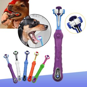 Dog Toothbrush Multi-angle Pet Cleaning Tooth Bad Breath Tartar Teeth Care Tool Brush for Dog Cat Protection Health Product