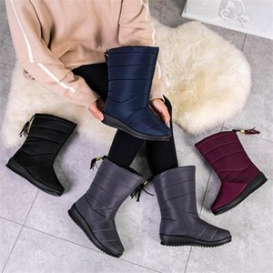 2020 Winter Boots Women Winter Shoes Waterproof Ankle Snow Boots Wedges Warm Fur Female Shoes Woman Footwear Chaussures