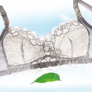 Bouton ouvert en coton ouvert Grand Réglage de la croix de la dentelle de la dentelle de la dentelle recueillie Sous-vêtements de maternité respirante Gilet-Bra
