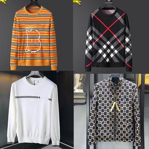 CALIENTE Suéter hombres Marca letra B casual simple Mulit-color de moda suéteres de los hombres de la chaqueta cómoda de cobertura O-Cuello de los hombres de suéter