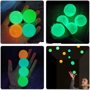Hot 2021 Ceiling Balls Luminescent Stress Relief Sticky Ball Glow Stick to the Wall and Fall off Slowly Squishy Glow Toys for Kids Adults