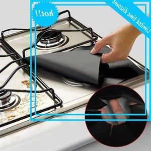 4 قطع ملاءات الغاز مربع مقاومة للحرارة الموقد طباخ حامي قابل للغسل reusable وسادة 27 * 27 سنتيمتر اكسسوارات المطبخ