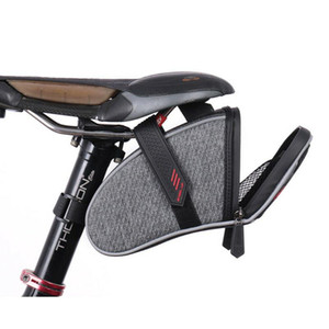 New Bicycle Saddle Bag Waterproof MTB Mountain Bike Rear Back Under Seat Tail Bag Rainproof Large Capicity Storage Organization